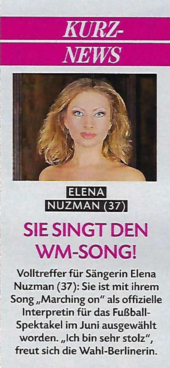 Elena Nuzman - Closer - April 2018
