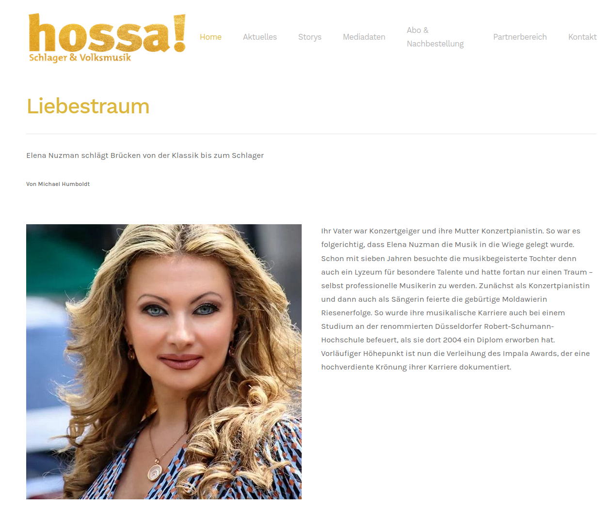 Elena Nuzman - Aktuell - hossa-magazin.de - September 2021