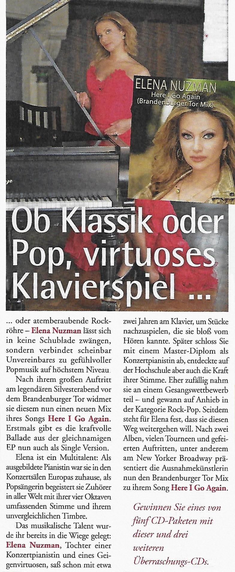 Elena Nuzman - Rätsel König - April / Mai 2020
