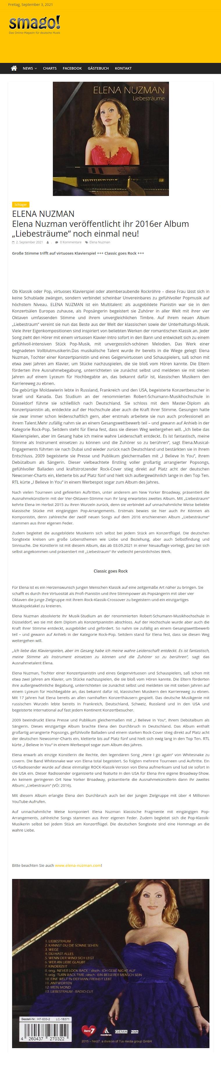 Elena Nuzman - Aktuell - smago.de - September 2021