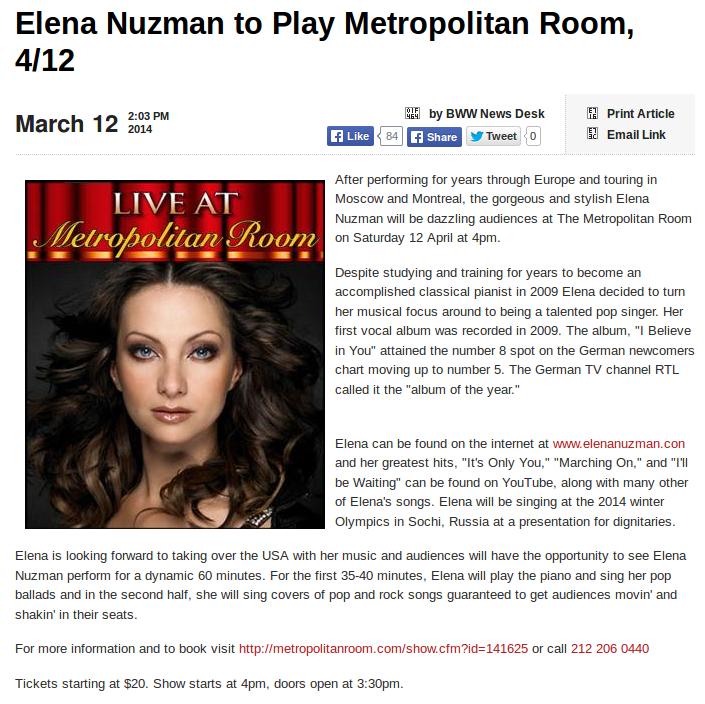 Elena Nuzman - broadway.com - März 2014