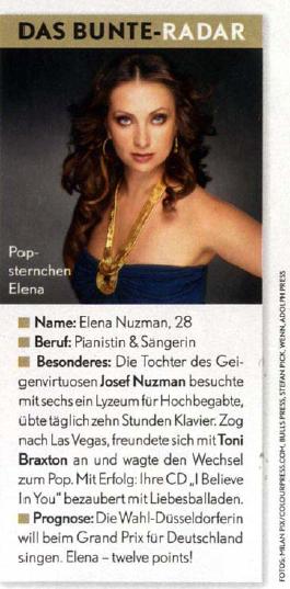 Elena Nuzman - Bunte - August 2009