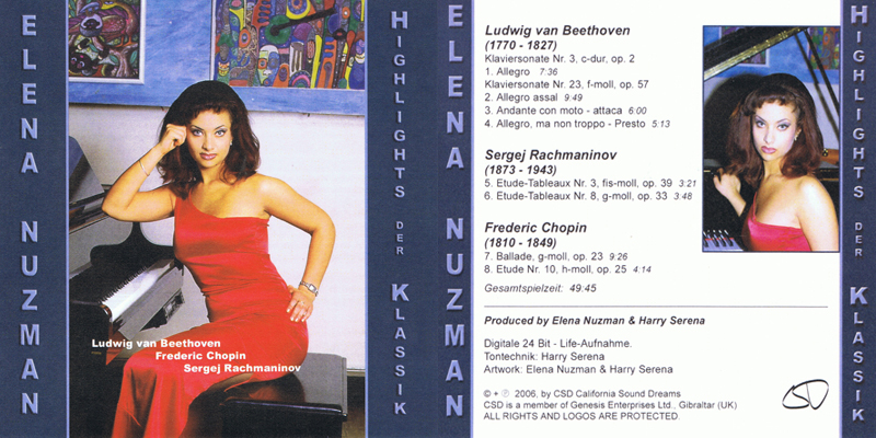 Elena Nuzman - Highlights der Klassik - Album 2006