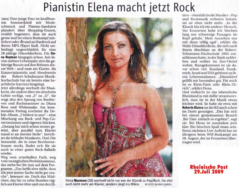Elena Nuzman - Rheinische Post - July 2009
