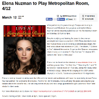 Elena Nuzman - broadway.com - March 2014