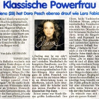 Elena Nuzman - Thüringer  Allgemeine - August 2009