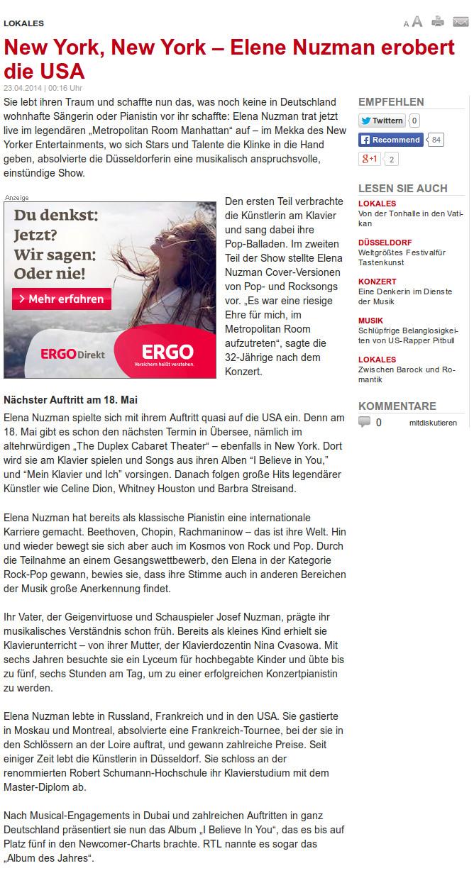 Elena Nuzman - waz.de - April 2014