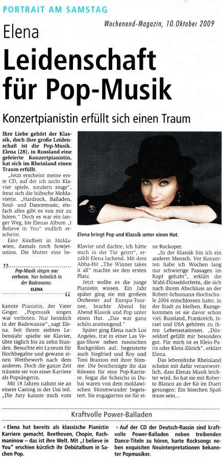 Elena Nuzman - Wochenend Magazin - Oktober 2009